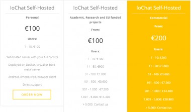 New IoChat licensing option